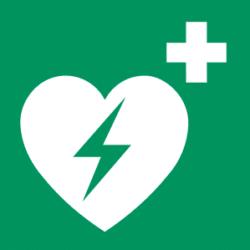 Symbol: Automatisierter Externer Defibrillator (AED) - E010