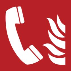 Symbol: Brandmeldetelefon - F006