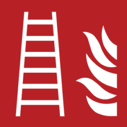 Symbol: Feuerleiter - F003