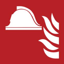 Symbol: Mittel und Geräte zur Brandbekämpfung - F004