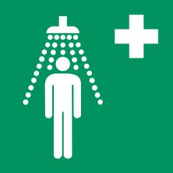 Symbol: Notdusche - E012