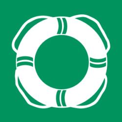 Öffentliche Rettungsausrüstung Symbol