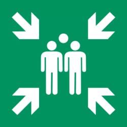 Sammelstelle Symbol