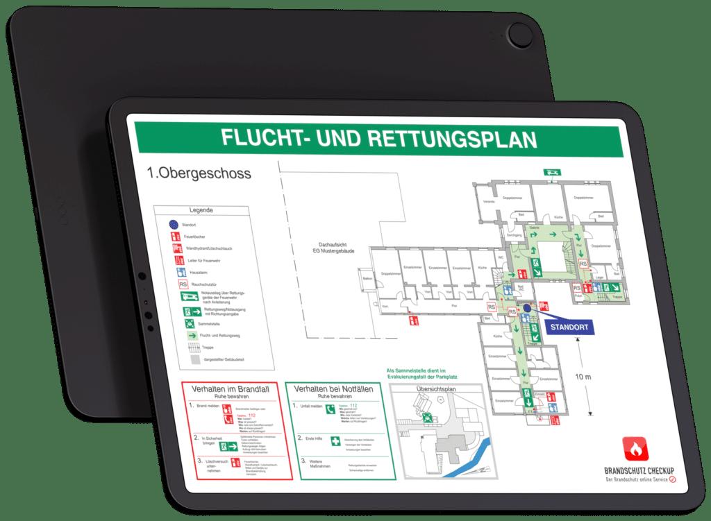 Flucht- und Rettungsplan gem. DIN-ISO 23601