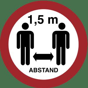 Symbol: Abstand halten