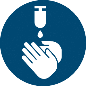 Symbol: Hände desinfizieren