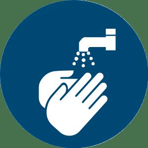 Symbol: Hände waschen