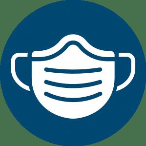 Symbol: Mund und Nasenschutz tragen